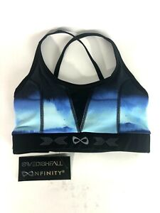 Swedish Fall nfinity Sports Bra XS Strong and Strappy Smoke Gray Blue