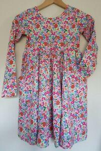 NWOT HANNA ANDERSSON SUPER TWIRL CELEBRATION PINK FLORAL SKATER DRESS 140 10