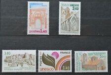 Lot de 5 timbres de France de service neufs** (3) et *(2) UNESCO (lot 3)