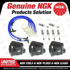 NGK Spark Plugs Coils Leads Kit for Holden Statesman VS WH WK Calais VT VX VY