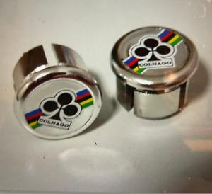 2 couple,new NOS-ORIGINAL-COLNAGO Handlebar End Plugs,Bar End Caps, endcaps