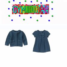 """Gymboree Girls """"We Have Arrived""""Bow Dress+Sweater 2 Piece Set Size 12-18m New"""