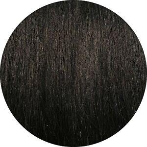 MONGOLIAN DOUBLE DRAWN 16'' NANO TIPS 1G STRANDS SHADE #1 HUMAN HAIR EXTENSIONS