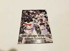 Chicago White Sox 1999 MLB Baseball Pocket Schedule - Coca Cola