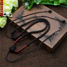 Braided string cord rope pendant A248 Brown Chinese knot hand knitting Circle