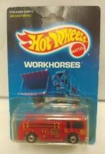 Rare HOT WHEELS WORKHORSES FIRE-EATER Fire Truck #9640 1988 *Reversed*