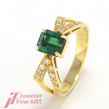 H.STERN RING 750/18K Gelbgold - Turmalin + Brillanten ca. 0,30 ct - 4,4 g