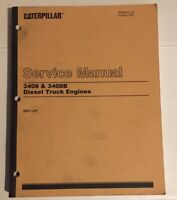 Caterpillar OEM 3408 & 3408B (28V1-up) Diesel Truck Engine Service Manual.