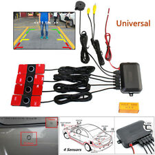 Vehicle Car Video Parking Reverse Backup Assistant Radar Alarm w/ 4 Flat Sensors