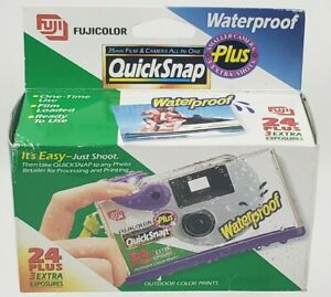 Fujifilm Quicksnap Waterproof 800 Disposable Camera X-TRA sealed - Expired 1997