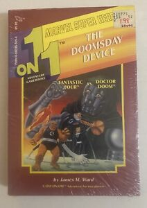 """NEW & SEALED!! Marvel Super Heroes One-on-One Adventure """"The Doomsday Device"""""""