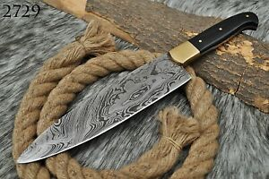 "12""inch CUSTOM Handmade HAND FORGED DAMASCUS STEEL Chef Knife Kitchen Knife"