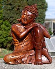 Super schöner ruhender BUDDHA Meditation HOLZ BUDDA Feng Shui BMKNIER20