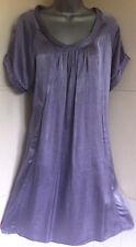 MASAI CLOTHING COMPANY loose lilac cotton mix dress scoop neck pockets M14/16/18