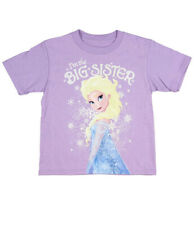 Disney Toddler Girl T Shirt Size 2 Frozen Elsa I'm The Big Sister Purple