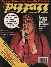Pizzazz November 1978 Marvel Magazine Meatloaf EX 010716DBE