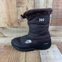 The North Face 700 Nuptse Womens Sz 6 Winter Snow Goose Down Boots Brown Plaid