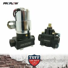 Proflow Pro Series Electric Fuel Pump & Pressure Regulator 110GPH Chrome Black
