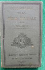 CODE NOUVEAU DE LA PECHE FLUVIALE  E.MARTIN 1897 EDITIONS LEAUTEY