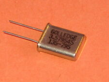 3.579545MHz GOLLEDGE CRYSTAL HC49/U  PACKAGE   QTY = 1