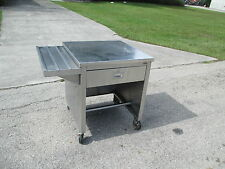 """Portable Food Buffet Deli Counter 30"""" Stainless Steel Top 10"""" side tray & Draw"""