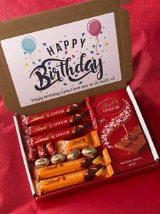 Lindt Chocolate Gift Box   Chocolate Personalised Hamper   Lindor Lint Present