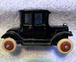 Vintage Eccles Bros. Cast Metal Model T Ford Doctors Coupe Toy Car