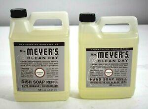 Meyers Combo 33 FL OZ Hand Soap Refill 48 FL OZ Dish Soap Refill Lavender Scent