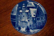 Vintage Rothenburg On Tauber German Christmas 1971 Plate Berlin Blue China