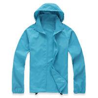 New Waterproof Windproof Jacket Mens Ladies Womens Lightweight Rain Coat Outdoor