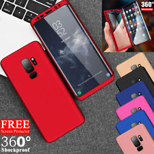 Samsung Galaxy S6 S7 Edge S8 Hybrid Shockproof 360 Case Cover + Screen Protector