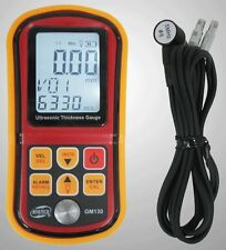 Ultrasonic Thickness Gauge Tester Meter 1-300MM Sound Velocity Measure GM130