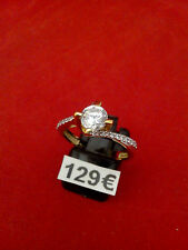 bague solitaire or jaune 375/1000