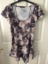 M & S Flower Tunic Top Size 8 New With Tags