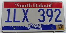 Nummernschild USA South Dakota mit Päsidentenköpfen. 13129.