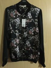 BNWT Lovely Floral, Satin Feel Bomber Jacket, size; 12