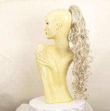 Haarteil Pferdeschwanz lange 65 cm weiß 10 60