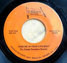 BLUEGRASS 45:  GOSPEL RAMBLERS QUARTET Take Me In Your Life Boat/The Holy Hills