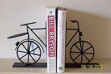 Negro Vintage Chic Bici Bicicleta Sujetalibros Libro Termina