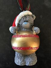 ME TO YOU TATTY TEDDY BEAR XMAS TREE HANGING DECORATION - IN A GOLD BAUBLE