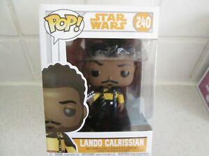 Brand New Mint In Box Funko POP! Star Wars 240 Lando Calrissian (Young)