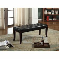 Candace & Basil Tufted Accent Bench, Brown