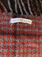 Pottery Barn Whitaker Reversible Throw Blanket 50x58 Red Gray Houndstooth Plaid