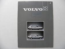 Catalogue / brochure VOLVO 340 / 360 de 1985