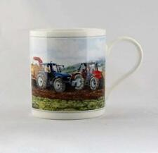 Cachet Tractor Ploughing Fine Art Watercolour China Gift Mug