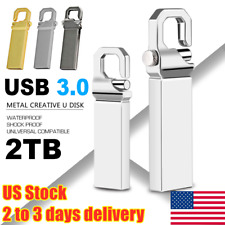 2TB Metal USB 3.0 Flash Drive Memory Stick Pen U Disk Swivel Key Thumb PC