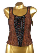 ARIANNE - TAILLE S - Caraco baroque lacets sexy 5396, Coloris : Marron