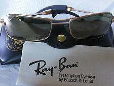 VINTAGE RAY BAN B&L SUNGLASSES ORBS WRAP FUGITIVE MATTE G-15 USA 55mm