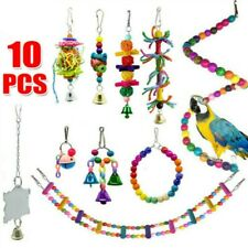 Swing Wooden Stand Parrot Toys Set Chewing Toy Climbing Ladder Bird Perch