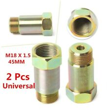 M18x1.5 Universal 2PCS Straight 45mm O2 Oxygen Sensor Extension Spacer Extender